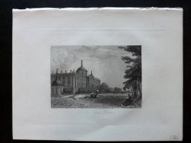 After Vickers 1834 Antique Print. The New Place, Potsdam, Germany